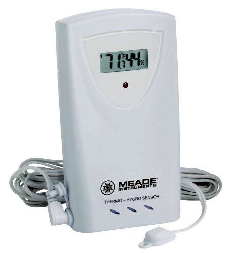 Meade Instruments TS33F-M Temperature and Humidity Sensor with Probe, White (Meade Indoor Outdoor Thermometer compare prices)