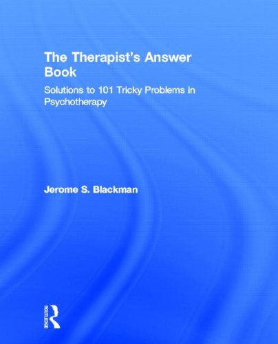 The Therapist'S Answer Book: Solutions To 101 Tricky Problems In Psychotherapy front-1030077