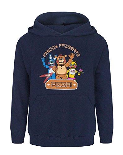 FIVE NIGHTS AT FREDDY'S -  T-shirt - Cappuccio  - Maniche lunghe  - ragazzo Blu blu