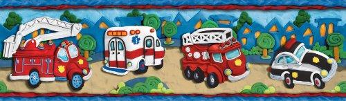 Clay Rescue Vehicles Wallpaper Border - Ambulance, Firetruck Fire Truck (Truck Border compare prices)
