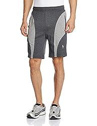Jockey Men's Cotton Shorts (8901326123249_9411-0103_Charcoal Melange and Grey Melange_Large)
