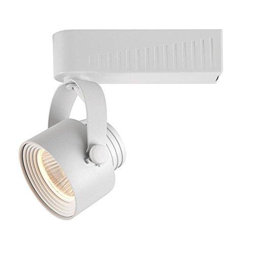 hampton bay white dimmable led gimbal track lighting fixture home. Black Bedroom Furniture Sets. Home Design Ideas