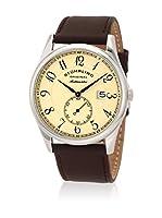 Stuhrling Original Reloj con movimiento cuarzo suizo Man Cuvette Classic Marrón Oscuro 44.0 mm