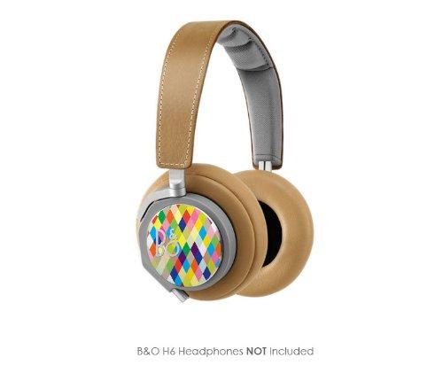Harlequin Pattern Vinyl Art Decal Cups (Designed To Fit Bang & Olufsen H6 Headphones - Headphones Not Included)