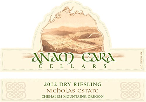 2012 Anam Cara Cellars Chehalem Mountains Dry Riesling 750 Ml
