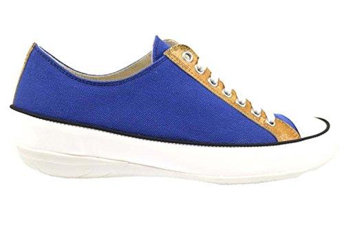 scarpe donna 1° CLASSE ALVIERO MARTINI sneakers blu bianco tela AP165 (36 EU)