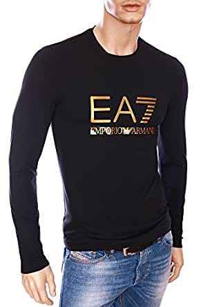 Mens Emporio Armani Ea7 Mens Long Sleeve Jersey T Shirt In