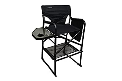 extra tall folding directors chair foldable chair with side table xl design black. Black Bedroom Furniture Sets. Home Design Ideas