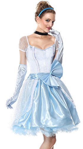 Sibeawen Women's Glass Slipper Cinderella Fairy Tale Costumes