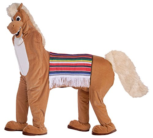 Two Man Person Brown Horse Costume for 2 Parade Party Mascot Adult Halloween New