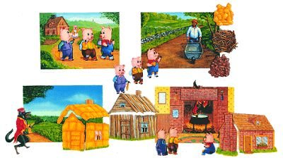 The Three Little Pigs Soft Felt Book- Kit