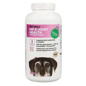 Mega Hip and Joint Health For Senior Dogs, Peanut Butter , 180 chewable tabs