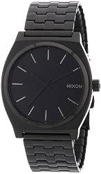 Nixon Men's A045-001 Minimal The Time Teller Black Stainless Steel Watch