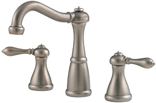 Price Pfister 049-M0BE Marielle Two-Handle Widespread Lavatory Faucet with Pop-Up, Rustic Pewter