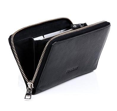 Feynsinn porte monnaie zille porte carte en cuir portefeuille homme noir 17 x 9 5 x 1 5 cm - Portefeuille porte carte homme ...
