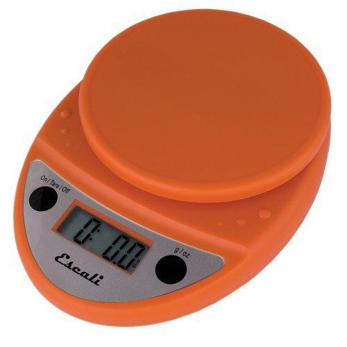 Primo Digital Kitchen Scale 11Lb/5Kg, Pumpkin Orange by Escali