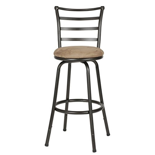 Roundhill Furniture Round Seat Bar/Counter Height Adjustable Metal Bar Stool (Amazon Bar Stools compare prices)