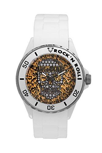 Zadig & Voltaire  - Reloj de cuarzo unisex, correa de silicona color blanco