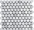 "White Marble 1"" Hexagon Polished tile- Stunning Tile, Super Low Price"