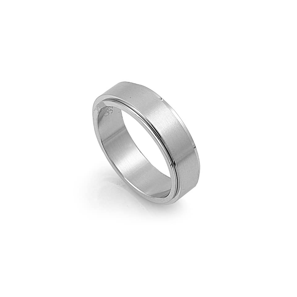 Stainless Steel High Polish Spinner Ring Size 6