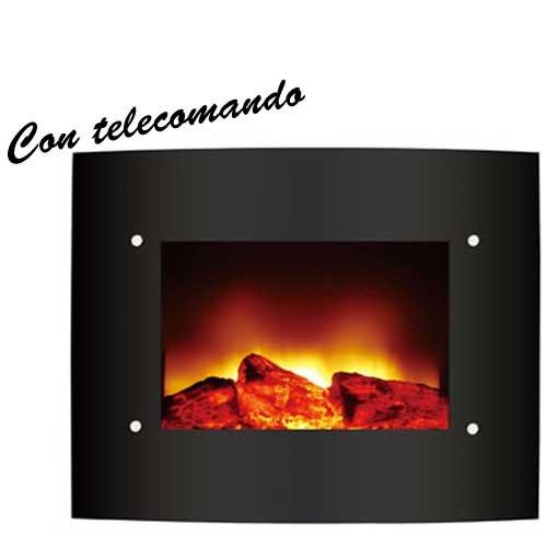 Stufa caminetto elettrico da parete 1200w zephir zfp201 for Caminetto elettrico da parete