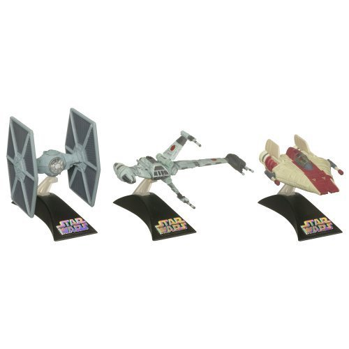 Star Wars Die Cast Titanium Vehicle - Episode VI A-WING/B-WING/TIE FIGHTER by Hasbro (English Manual)