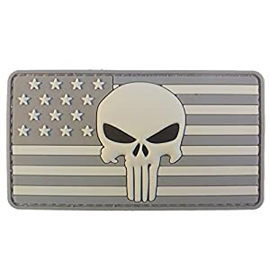 3D ACU Punisher American Drapeau PVC Gomme Velcro Écusson Patch