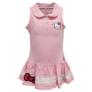 Buy Hello Kitty Girls` Sleeveless Polo Tennis Dress Pink by Hello Kitty