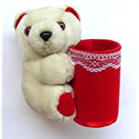Tickles Pen & Penceil Holder Teddy AT-T063 (White/Red)