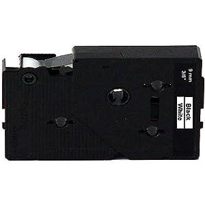 Tc20z1 3/8in Black On White Tape for Pt-6 8 10-12 20 25 150 170