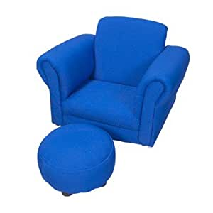 children 39 s blue upholstered rocking chair and