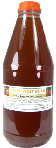 Apple Cider Vinegar Tonic with 'Mother' - 1 Litre Natural Organic Raw Unfiltered