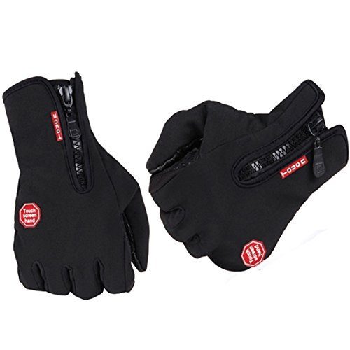 1Pc (1 Pair) Superbly Popular New Waterproof Touch Screen Warm Glove Comfortable Winter Season Thermal Warming Size L Color Black (Deerskin Chopper Mittens compare prices)