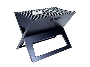 """Barbecue au charbon en """"Grill-01 Laptop"""" et design rectangulaire rond ou arrondis, légère facile à transporter et économise de la place grille en acier nickelé, BBQ pour une utilisation conviviale Pique-nique ou camping au parc mais, Choisissez grillés:Grill-01"""