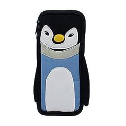 Civetta Super Cute Animal Cartoon Practical Pencil Case Pencil Box Pencil Bag Pencil Holder Students Stationery(Penguin)