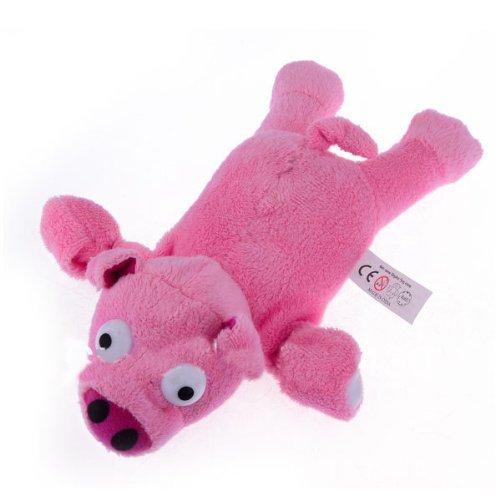niceeshop(TM) Soft Plush Slingshot Flying Screaming Eletronic Pig with Battery, Pink - 1