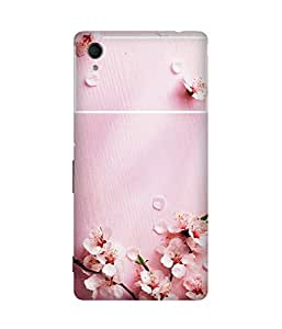 Pink Petals Printed Back Cover Case For Sony Xperia M4 Aqua