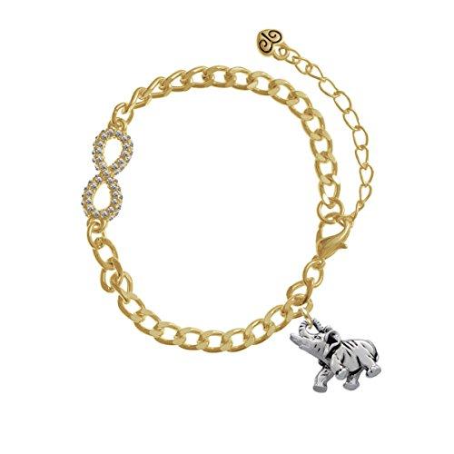 Elephant Gold Crystal Infinity Bracelet