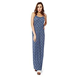 Avirate Women's Dress (AVDR103189_Blue _14)
