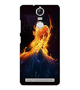 LENOVO K5 NOTE FIRE HEART Back Cover by PRINTSWAG