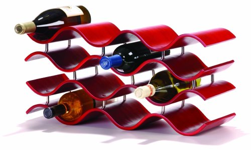 Oenophilia Bali Wine Rack, Crimson -12 Bottle (Chef Wine Rack compare prices)