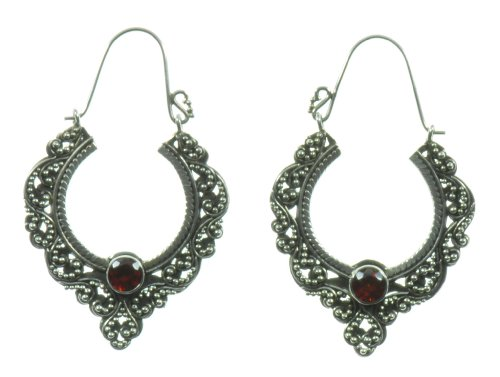 Silver Brocade Earring Jewelry of Bali