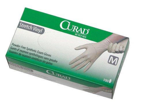 Curad PF Stretch Synthetic Vinyl Exam - Medium - 100 Per Case - Model CUR8225