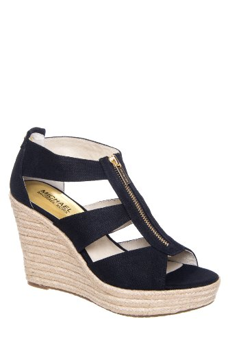 MICHAEL Michael Kors Damita Wedge High Heel Rope Wrapped Sandal