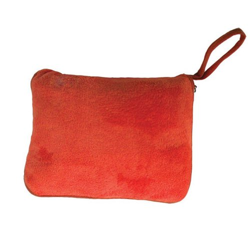 The Perfect Holiday And Traveling Set Includes A Soft And Cozy Pillow And Blanket - Orange front-826717
