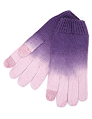 Dip Dye Touchscreen Knitted Gloves