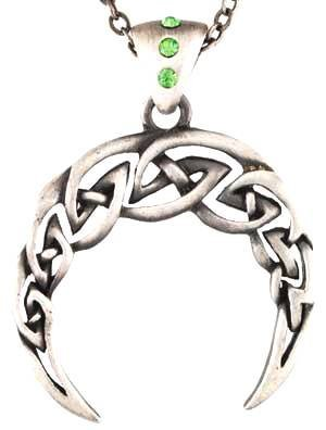 Celtic Moon Necklace Pendant Charm Wicca Wiccan