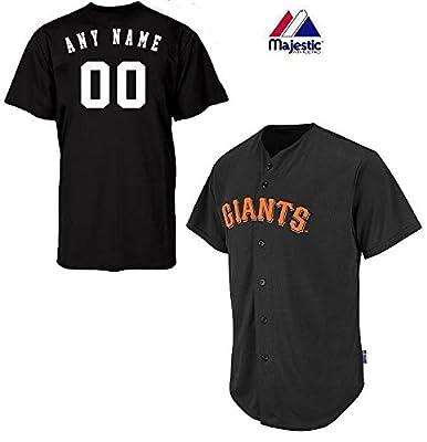 San Francisco Giants Full-Button CUSTOM or BLANK BACK Major League Baseball Cool-Base Replica MLB Jersey