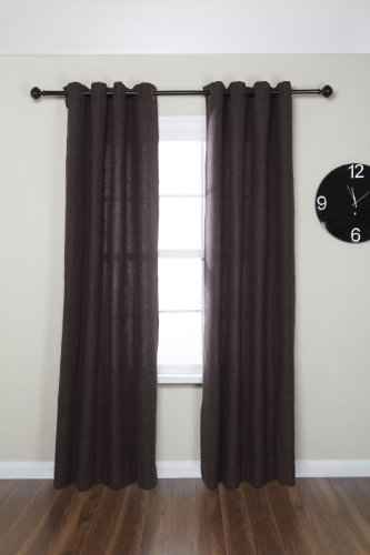 Umbra celeste 1 inch drapery rod for window 88 to 120 for 120 inch window treatments