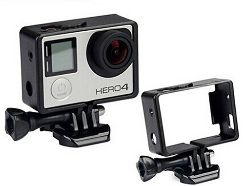 Black Frame Clear View Protective Skeleton Housing Case Shell with Lens for Gopro Hero 3+ Hero 4